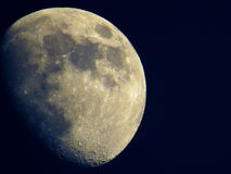 The Moon. In the bright night. Visible craters on his surface. So close and magnificent stock photos
