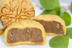 Moon cake. The delicious moon cake, best regards Stock Image