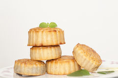 Moon cake. The delicious moon cake, best regards Royalty Free Stock Images