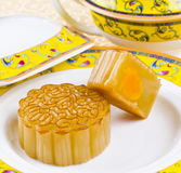 Moon cake. Chinese moon cake -- food for Chinese mid-autumn festival royalty free stock photos
