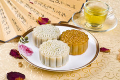 Moon cake. Chinese moon cake -- food for Chinese mid-autumn festival Royalty Free Stock Photography