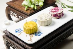Moon cake. Chinese moon cake -- food for Chinese mid-autumn festival Stock Image