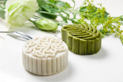 Moon cake. Chinese moon cake -- food for Chinese mid-autumn festival Stock Photography
