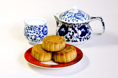 Moon-cake. Traditional Chinese cuisine moon cakes stock image