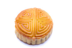 Moon cake. On the white background stock images