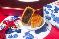 Moon cake. Chinese moon cake -- food for Chinese mid-autumn festival Royalty Free Stock Images