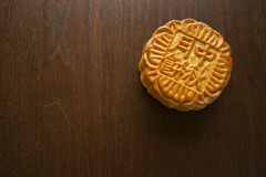 Moon cake, Chinese Mid-autumn festival dessert Royalty Free Stock Photos