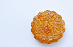 Moon cake Chinese tradition dessert in festival on white background. Moon cake Chinese tradition dessert in festival on the white background Stock Photography