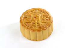 Moon cake with golden lotus seed and macadamia nut filling Royalty Free Stock Photo