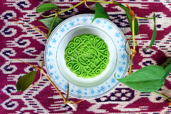 Moon cake, green tea flavour Royalty Free Stock Photo