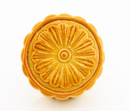 Moon cake isolated on white background. Moon cake on white background stock photo