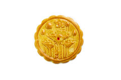 Moon cake with lotus pattern Royalty Free Stock Photo
