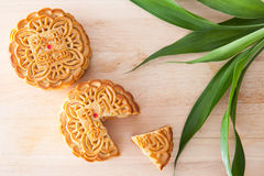 Moon cake for Mid-Autumn fastival Stock Photo