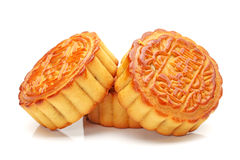 Moon cake. Mid-Autumn Festival moon cake on white background royalty free stock image