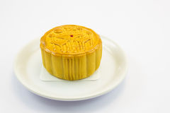 Moon cake. This photo are moon cake on a white background Stock Photo