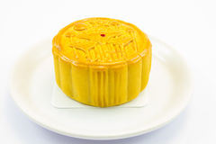 Moon cake. This photo are moon cake on a white background Stock Photos