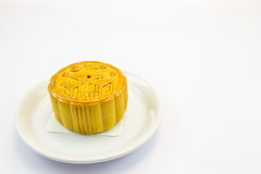 Moon cake. This photo are moon cake on a white background Stock Image