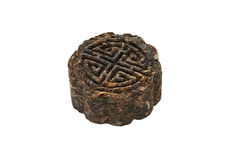 Moon cake puer tea Stock Images