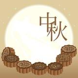 Moon cake seven star Royalty Free Stock Image