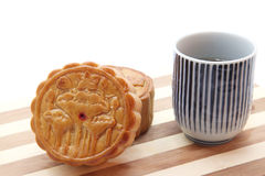 Moon cake with tea Stock Image