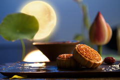 Moon cake. Traditiona delicious food - moon cake stock photo