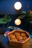 Moon cake. Traditiona delicious food - moon cake stock images