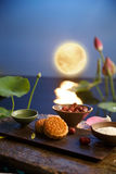 Moon cake. Traditiona delicious food - moon cake stock photography