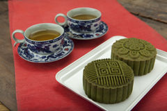 Moon cake of Vietnamese Chinese mid autumn festival food Royalty Free Stock Photos