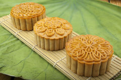 Moon cake of Vietnamese Chinese mid autumn festival food Royalty Free Stock Image