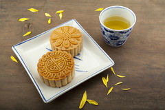 Moon cake of Vietnamese Chinese mid autumn festival food Stock Image