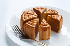 Moon cake on white background Stock Photography