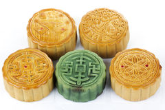 Moon cake on white background Stock Images