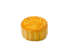 Moon cake on white background isolated stock photo