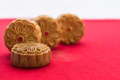 Moon cakes for the Chinese Mid-autumn festival Royalty Free Stock Images