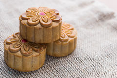 Moon cakes for the Chinese Mid-autumn festival Stock Photo