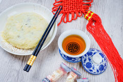 Moon cakes for the Chinese Mid-autumn festival Stock Photos