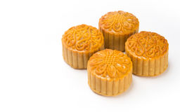 Moon cakes in a Chinese mid-autumn festival Royalty Free Stock Image