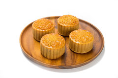 Moon cakes in a Chinese mid-autumn festival Royalty Free Stock Photo