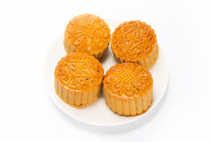 Moon cakes in a Chinese mid-autumn festival Stock Photography