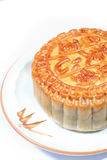 Moon cakes on dish Royalty Free Stock Images
