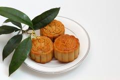 Moon cakes. The mid autumn festival scene Stock Photography