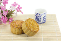Moon cakes ,traditional chinese bakery. Stock Photos