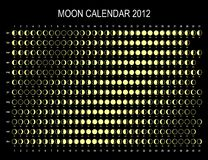 Moon calendar 2012 Royalty Free Stock Image