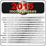 Moon calendar 2015 Royalty Free Stock Images