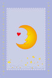 Moon card Stock Image