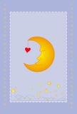 Moon card. Vector illustration of moon card Stock Image