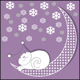 Moon cat Stock Image