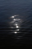 Moon catchlights on water Stock Photos