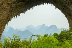 Moon cave at Guilin Stock Image