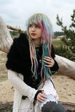 Moon Child, Modern Witch Bohemian Style. Stock Image